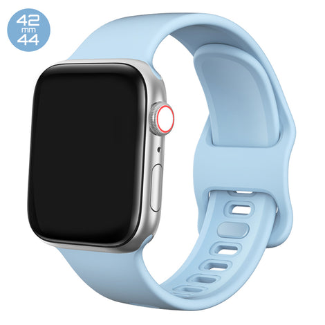 Light Blue Liquid Silicone iWatch Band 42/44mm