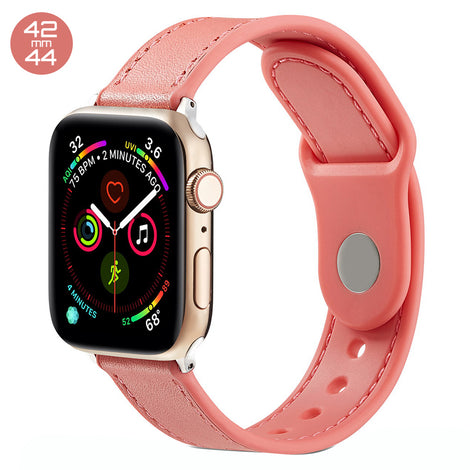 Orange TPU Leather iWatch Band 42/44mm