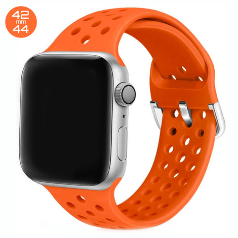Orange Breathable Silicone iWatch Band 42/44mm