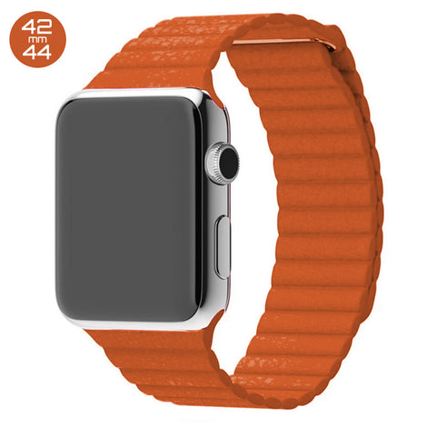 Orange iWatch Leather Loop Band 42/44mm