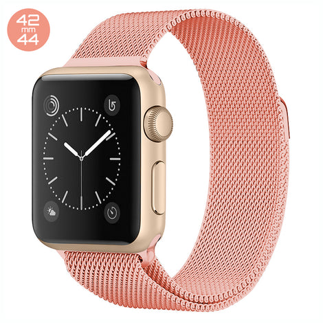 Orange iWatch Milanese Stainless Steel Loop Band 42/44mm