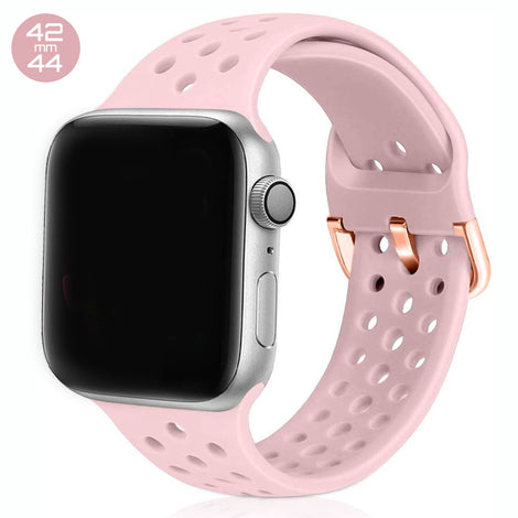 Pink Sand Breathable Silicone iWatch Band 42/44mm