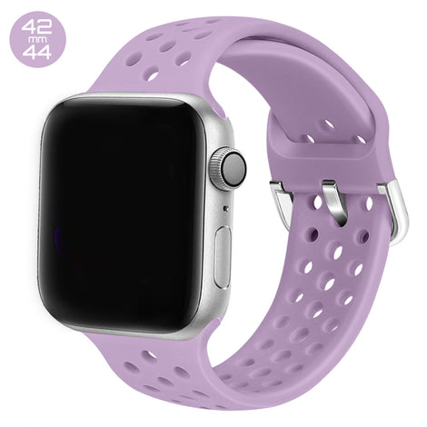 Purple Breathable Silicone iWatch Band 42/44mm