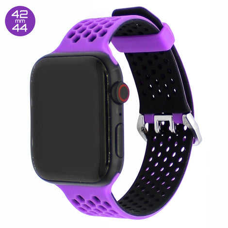 Purple Honeycomb Silicone iWatch Band 42/44mm