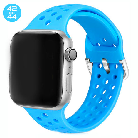 Sky Blue Breathable Silicone iWatch Band 42/44mm