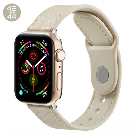 White TPU Leather iWatch Band 42/44mm