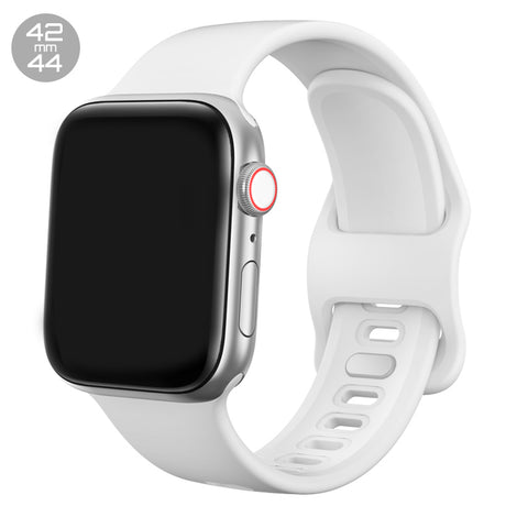 White Liquid Silicone iWatch Band 42/44mm