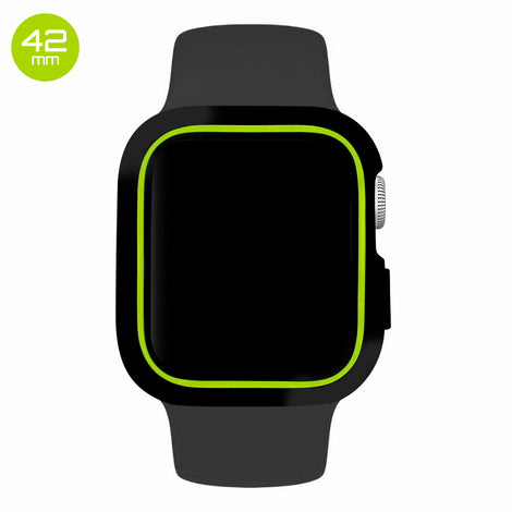 Black/Green iWatch Silicone Case 42mm