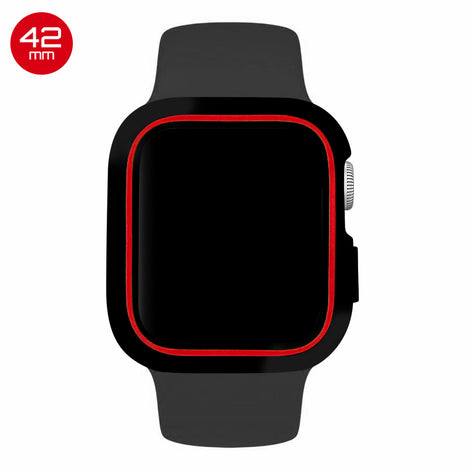 Black/Red iWatch Silicone Case 42mm