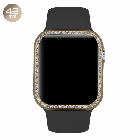 Gold Diamond Aluminum iWatch Case 42mm