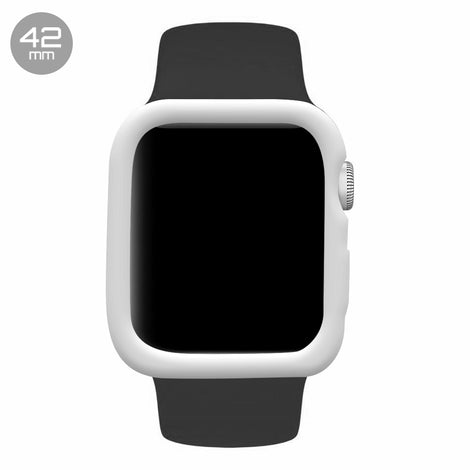 White iWatch Silicone Case 42mm