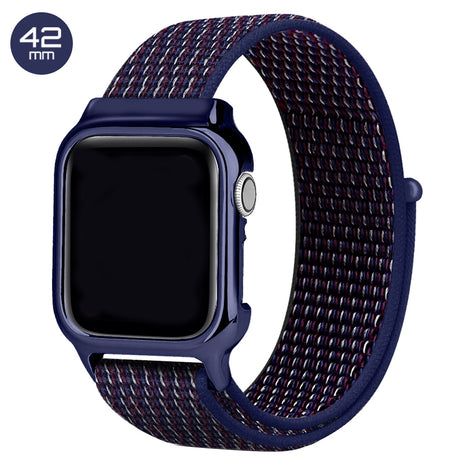 Indigo Nylon iWatch Band with Case 42mm