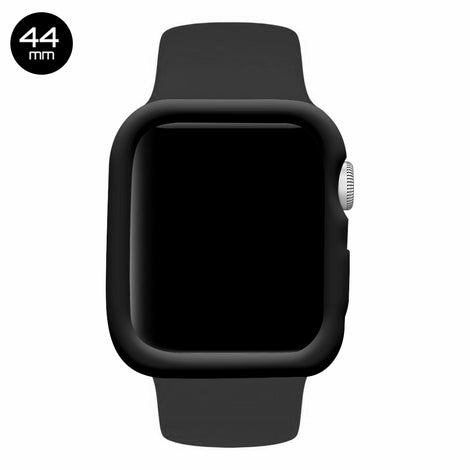 Black iWatch Silicone Case 44mm