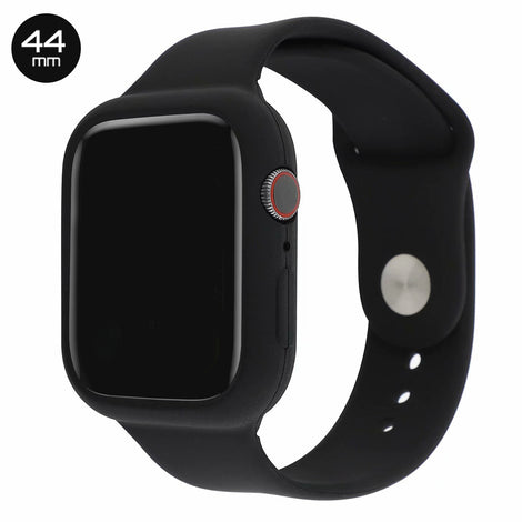 Black Silicone iWatch Band with Case 44mm