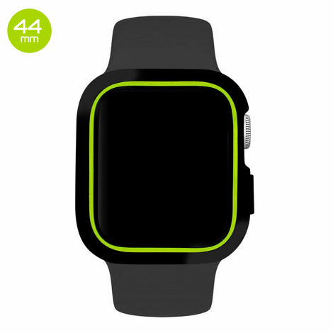 Black/Green iWatch Silicone Case 44mm