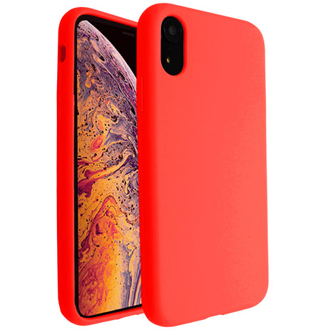 Hot Red Silicona Case for iPhone XR
