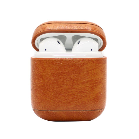 Beige Leather AirPod Case