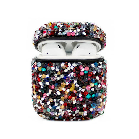 Black Rainbow Diamond Bling AirPod Case