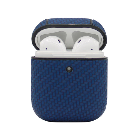 Blue Carbon Fiber AirPod Case
