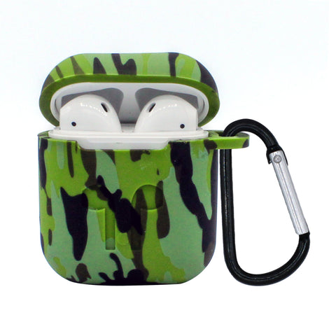 Dark Green Camo Silicone AirPod Case