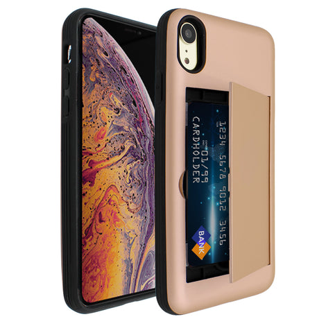Gold Carta Case for iPhone XR
