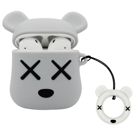 Grey XX Teddy AirPod Case