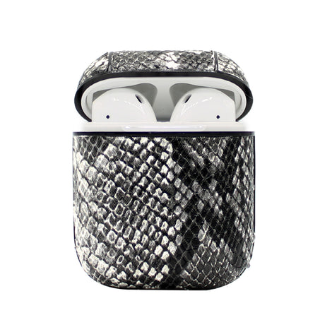 Grey Snakeskin Leather AirPod Case