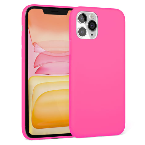 Hot Pink Silicona Case for iPhone 11 Pro Max