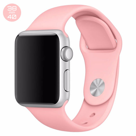 Pink Sand iWatch Regular Silicone Band 38/40mm