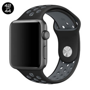 Black/Cool Grey iWatch Sport Silicone Band 42/44mm