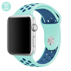 Turquoise/Midnight Blue iWatch Sport Silicone Band 42/44mm