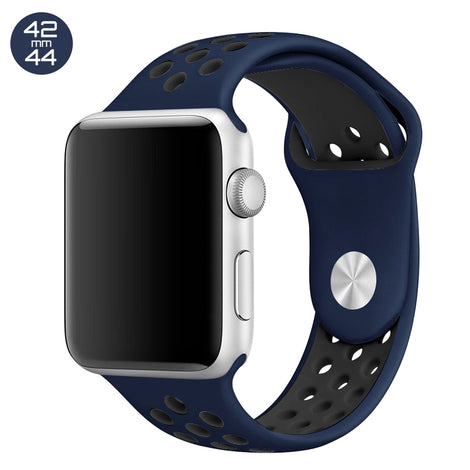 Midnight Blue/Black iWatch Sport Silicone Band 42/44mm