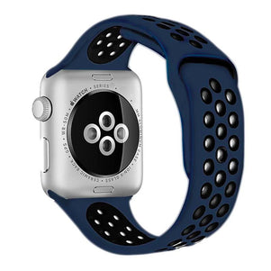 Midnight Blue/Black iWatch Sport Silicone Band 38/40mm