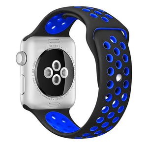 Black/Blue iWatch Sport Silicone Band 38/40mm