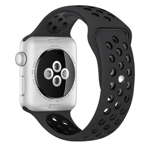 Obsedian/Black iWatch Sport Silicone Band 38/40mm