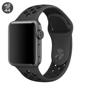 Obsedian/Black iWatch Sport Silicone Band 42/44mm