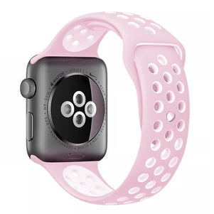 Light Pink/Pink iWatch Sport Silicone Band 38/40mm