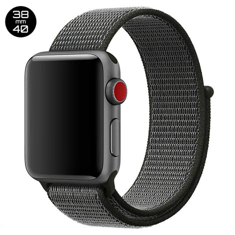 Black iWatch Nylon Loop Band 38/40mm