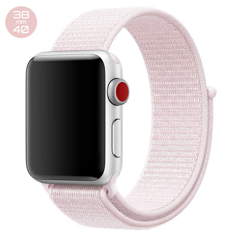 Pearl Pink iWatch Nylon Loop Band 38/40mm