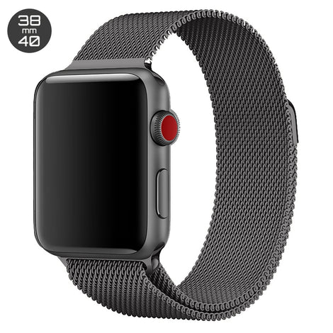 Grey iWatch Milanese Stainless Steel Loop Band 38/40mm
