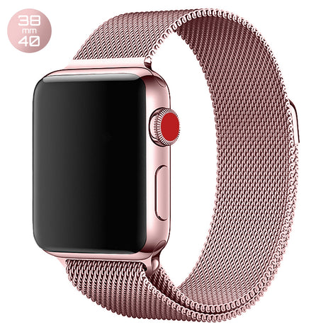Rose Powder iWatch Milanese Stainless Steel Loop Band 38/40mm