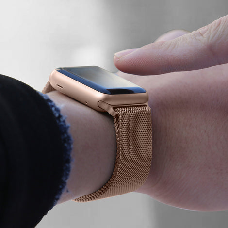 Rose Gold Iwatch Milanese Stainless Steel Loop Band 38 40mm Igear