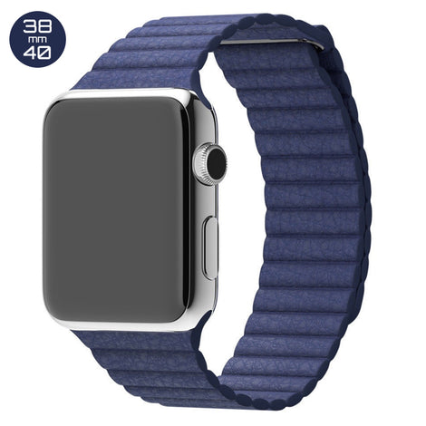 Dark Blue iWatch Leather Loop Band 38/40mm