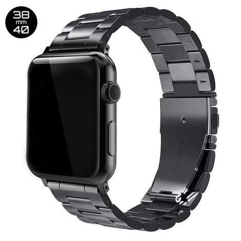 Black iWatch Stainless Steel Link Band 38/40mm