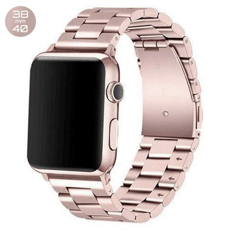 Champagne iWatch Stainless SteelLink Band 38/40mm