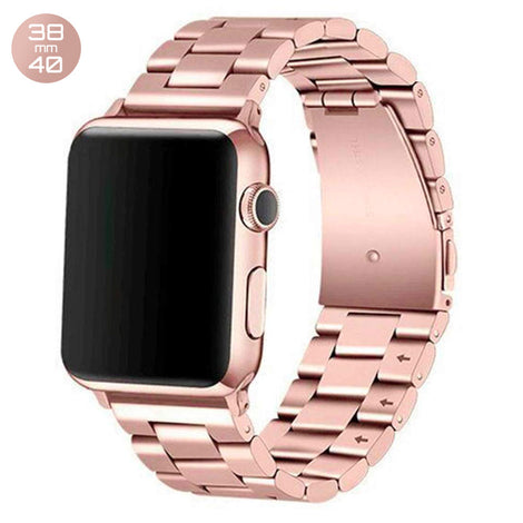 Rose Gold iWatch Stainless Steel Link Band 38/40mm