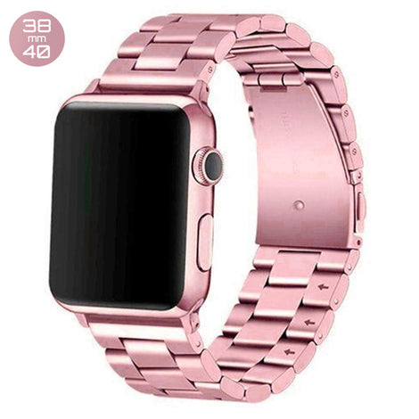 Pink Gold iWatch Stainless Steel Link Band 38/40mm