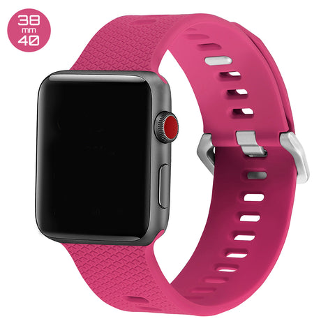 Barbie Pink Double Buckle Silicone iWatch Band 38/40mm