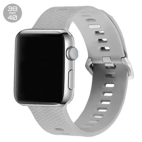 Stone Double Buckle Silicone iWatch Band 38/40mm