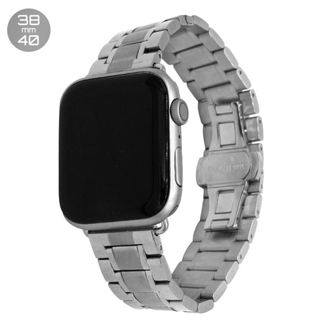 Silver 5 Bead Stainless Steel iWatch Band 38/40mm